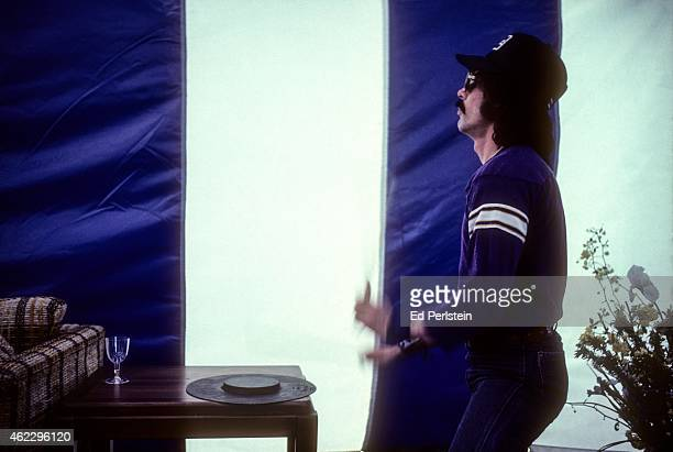 Drummer Mickey Hart rehearses prior to performing with the Grateful Dead at Spartan Stadium on April 22 1979 in San Jose California