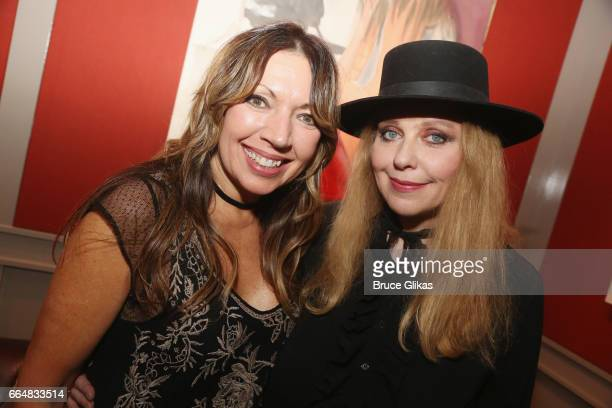 Drummer Mindy Wright and Bebe Buell visit the HGU New York's 1905 Lounge at the HGU New York Hotel on April 4, 2017 in New York City.