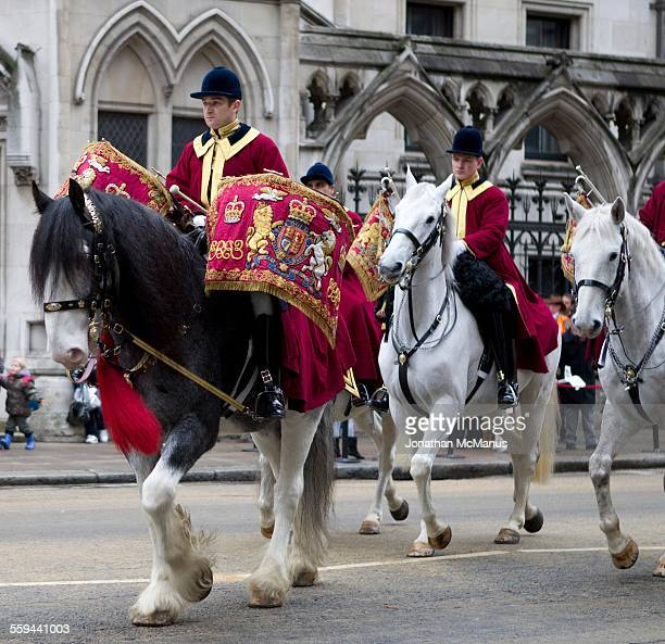 Drummer on horseback at the Lord Mayor's Show in London