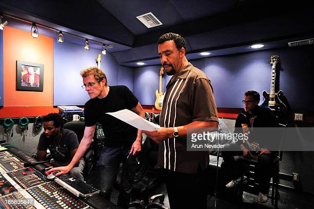 Drummer Oscar Seaton engineer/Oleander band member Rich Mouser pianist Bobby Lyle and Mark Hammond attend the Kaylene Peoples My Man CD recording...