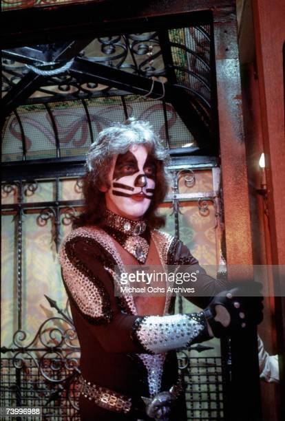 Drummer Peter Criss of the rock and roll band 'Kiss' performs onstage in circa 1977