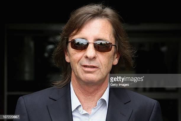 AC/DC drummer Phil Rudd leaves Tauranga District Court following his conviction for cannabis possession on December 1 2010 in Tauranga New Zealand...