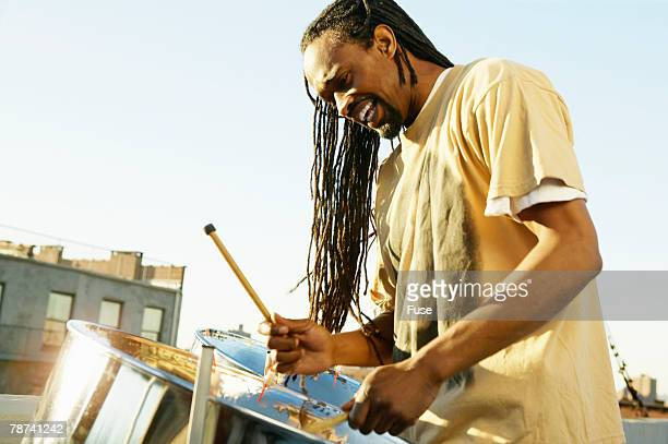 drummer - steel drum stock photos and pictures