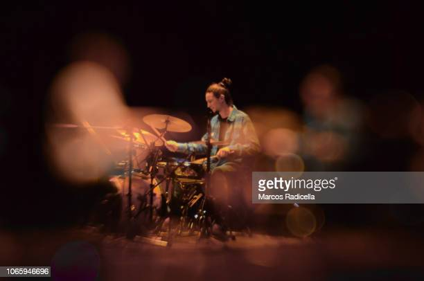drummer playing on stage - radicella stock photos and pictures
