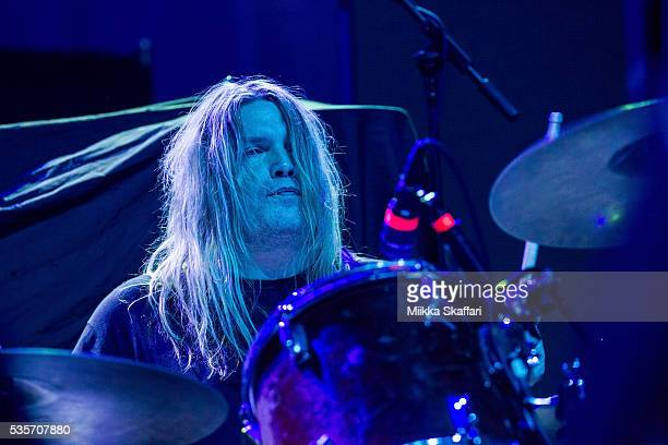 Drummer Reed Mullin of Corrosion of Conformity performs at Fox Theater on May 29 2016 in Oakland California