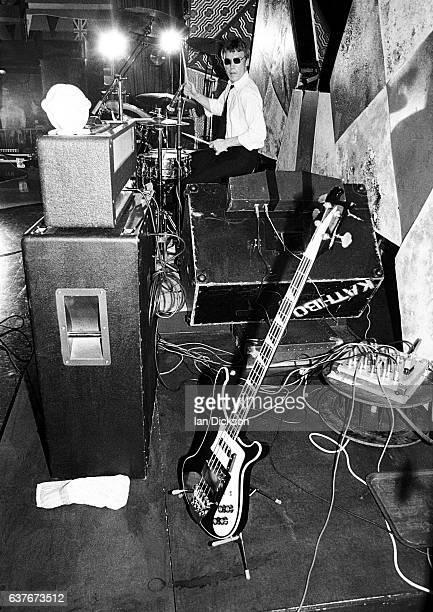 Drummer Rick Buckler of The Jam performing on stage United Kingdom 1977