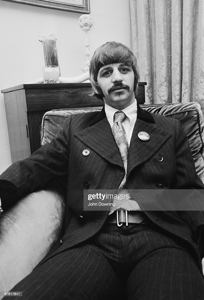 Drummer Ringo Starr at the press launch for the Beatles' new album 'Sergeant Pepper's Lonely Hearts Club Band', held at Brian Epstein's house at 24 Chapel Street, London, 19th May 1967.