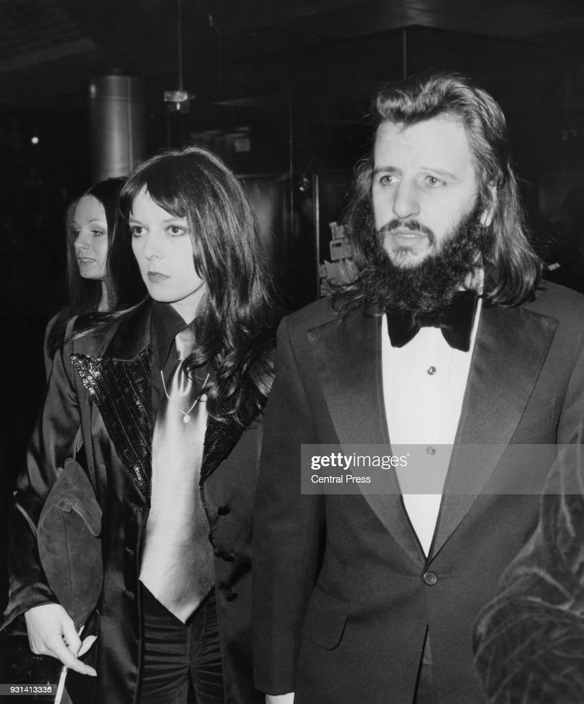 Drummer Ringo Starr Formerly Of British Rock Group The Beatles With His Wife Maureen At