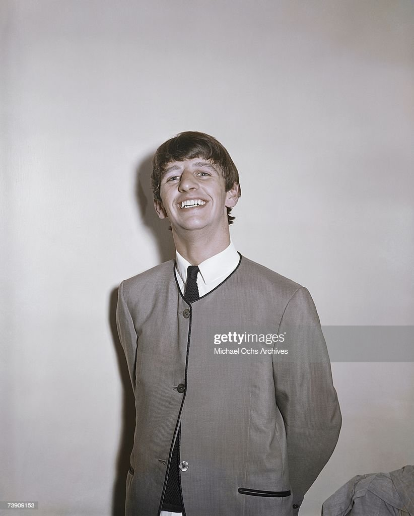 Drummer Ringo Starr Of The Rock And Roll Band Beatles Poses For A