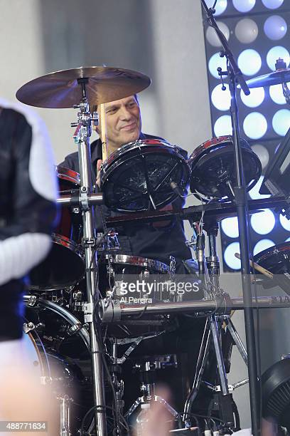 Drummer Roger Taylor and Duran Duran perform on NBC's 'Today' Show at Rockefeller Plaza on September 17 2015 in New York City