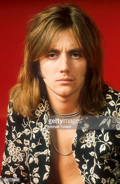 Drummer Roger Taylor of British rock band Queen poses in London England in 1973