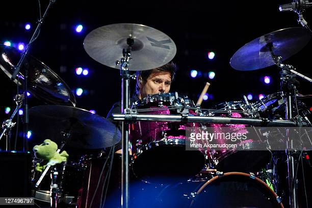 Drummer Roger Taylor of Duran Duran Performs at the Nokia Theater LA Live on September 27 2011 in Los Angeles California