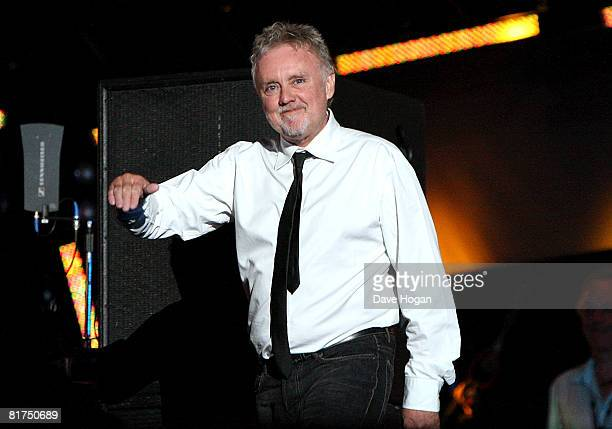 Drummer Roger Taylor of Queen onstage during the 46664 Concert In Celebration Of Nelson Mandela's Life held at Hyde Park on June 27 2008 in London...