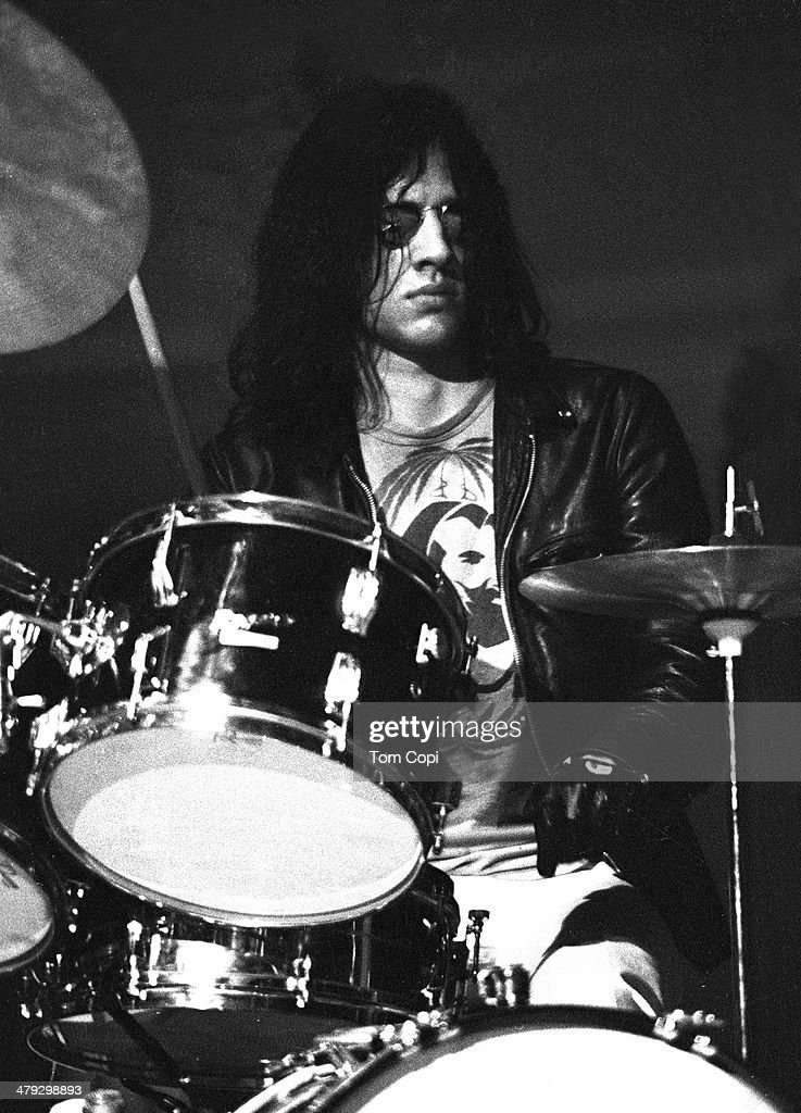 Drummer Scott Asheton of Iggy andThe Stooges performs in 1970 in Ann Arbor, Michigan.