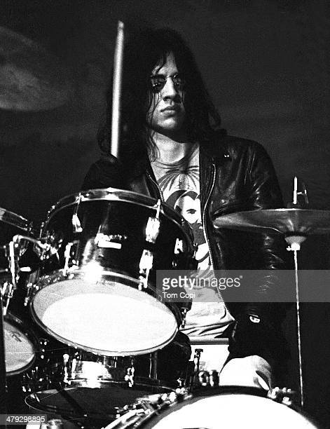 Drummer Scott Asheton of Iggy andThe Stooges performs in 1970 in Ann Arbor Michigan