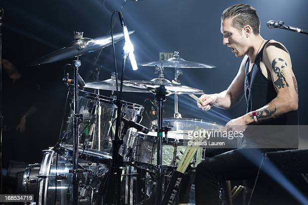 Drummer Sean Friday of Dead Sara performs at El Rey Theatre on May 9 2013 in Los Angeles California