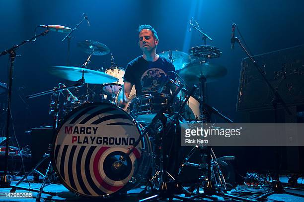Drummer Shlomi Lavie of Marcy Playground performs as part of Summerland Tour 2012 at ACL Live on July 6 2012 in Austin Texas