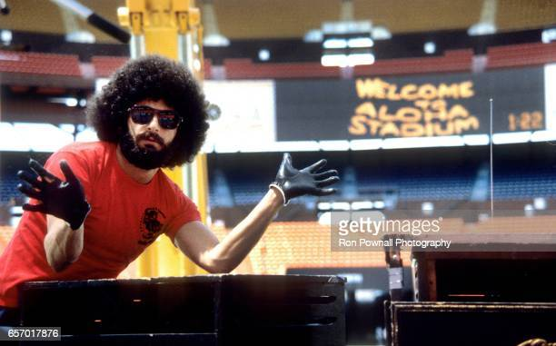 Drummer Sib Hashian of the band BOSTON poses for a photo during the soundcheck at Aloha Stadium on April 29 1979 in Honolulu Hawaii