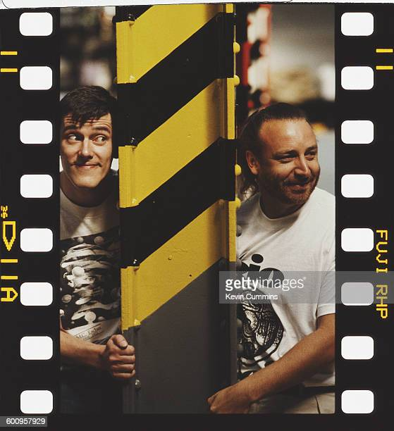 Drummer Stephen Morris and bassist Peter Hook of British rock group New Order at The Hacienda Manchester 25th July 1990