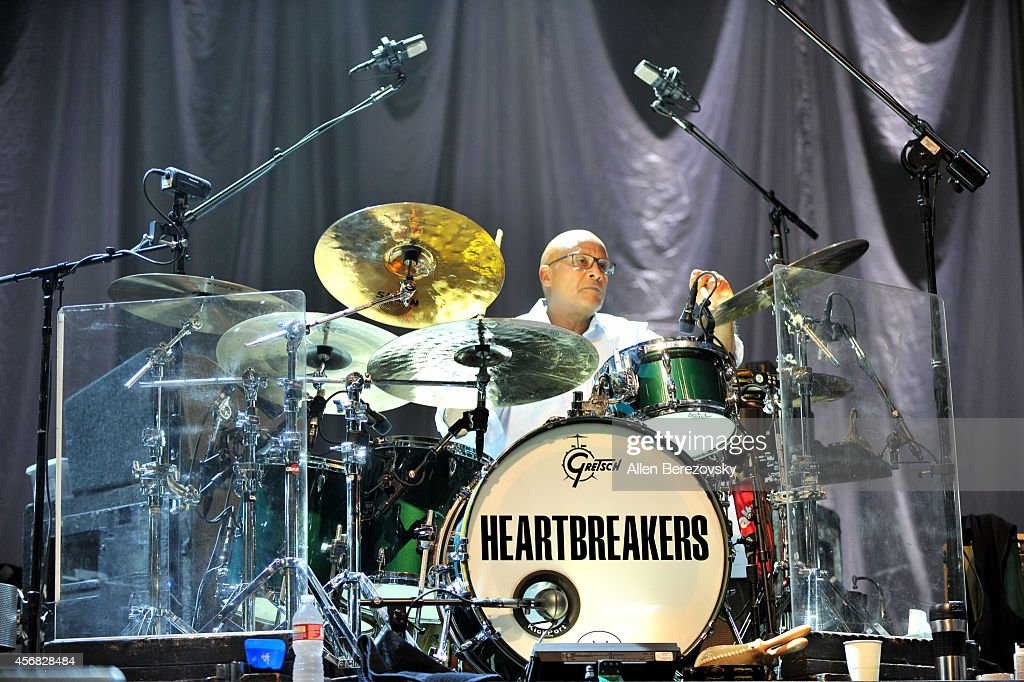 Drummer Steve Ferrone of Tom Petty and The Heartbreakers performs at Honda Center on October 7, 2014 in Anaheim, California.