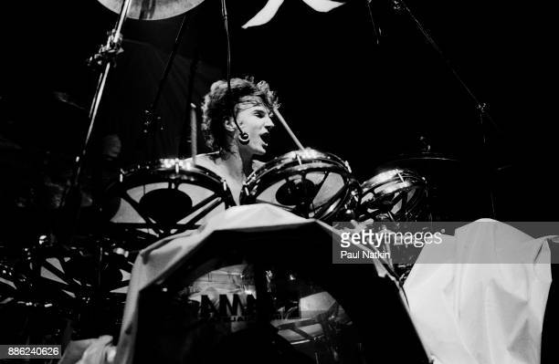 Drummer Terry Bozzio of Missing Persons performing in Milwaukee Wisconsin March 15 1983