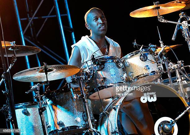 Drummer Timothy Christian Riley of Tony Toni Toné peforms onstage after the Agents Power Panel during Day 3 of the IEBA 2014 Conference on September...