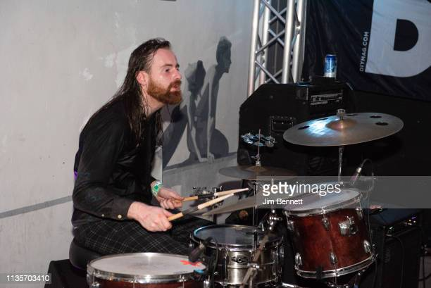 Drummer Tom Coll of Fontaines D.C. Perform live on stage during the 2019 SXSW Conference and Festival at the Swan Dive on March 13, 2019 in Austin,...