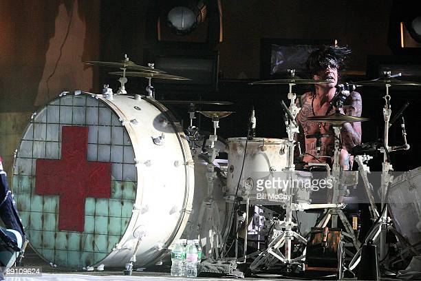 Drummer Tommy Lee for Motley Crue performs live at the Susquehanna Bank Center July 19 2009 in Camden New Jersey