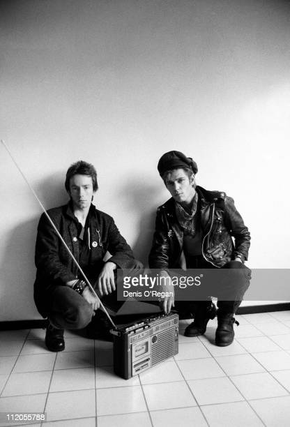 Drummer Topper Headon and bassist Paul Simonon of English punk group The Clash London 1978