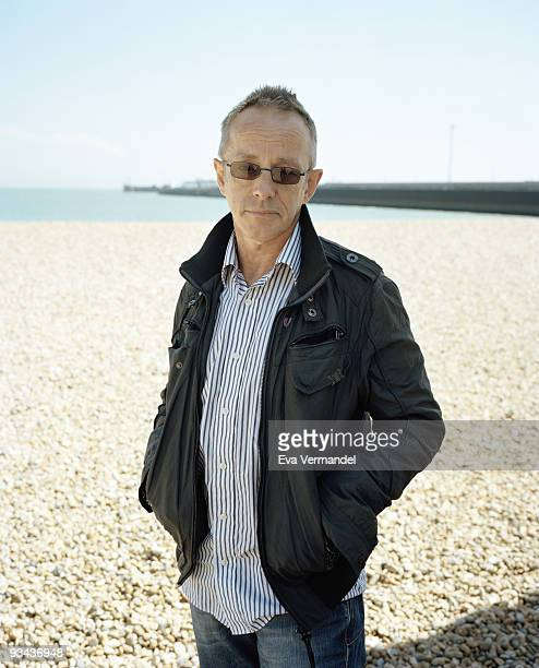 Drummer Topper Headon with the Clash poses for a portrait shoot in Dover on June 1 2009