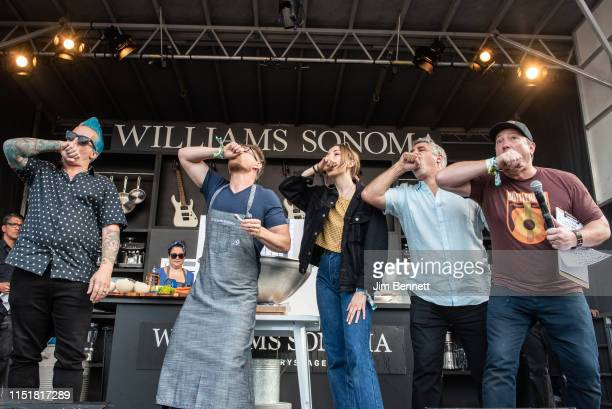 Drummer Tre Cool of Green Day chef Richard Blais musician Lydia Knight of The Regrettes producer Gary Dell'Abate aka Baba Booey and emcee and KBCS...