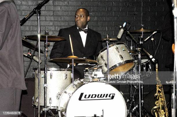 Drummer Vince Dunn performs live on stage at Ronnie Scott's Jazz Club in Soho, London on 21st December 2003.