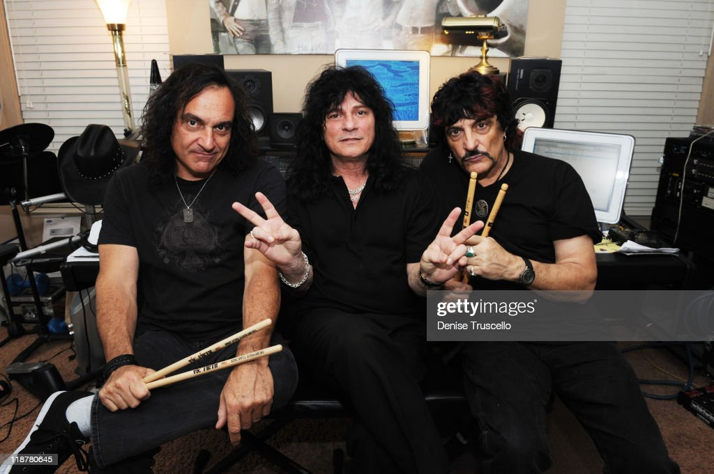 Carmine Appice, Vinny Appice And Paul Shortino Portrait Shoot At MusicWorks Studios In Las Vegas