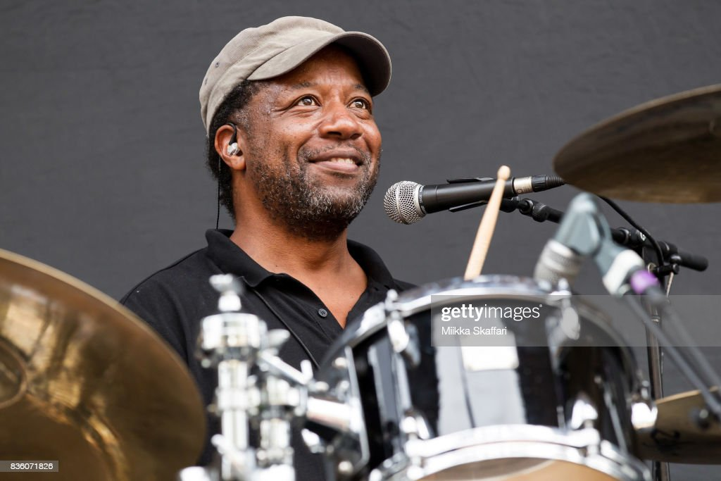 Drummer Winston Marche of The Selecter performs at The Greek Theater on August 20, 2017 in Berkeley, California.