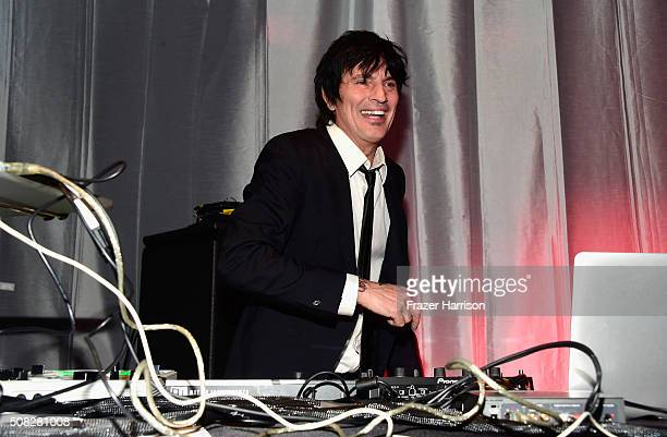 Drummer/DJ Tommy Lee performs onstage during Glazer Palooza and Suits and Sneakers on February 3 2016 in San Francisco California