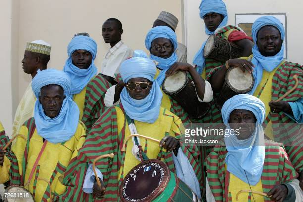 Drummers are seen at the Emir's Palace on November 30 2006 near Kano Nigeria This is the final day of the Prince's tour of Sierra Leone and Nigeria