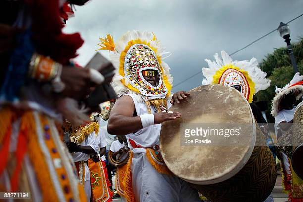 Drummers participate in the Junkanoo parade at the Goombay Festival on June 6 2009 in Coconut Grove Florida The festival is a celebration of culture...