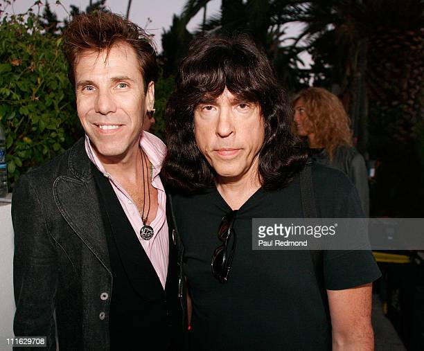 Drummers Slim Jim Phantom and Marky Ramone at the Tribute To Legendary Ramones Guitarist Johnny Ramone at the Hollywood Forever Cemetery on August 1...