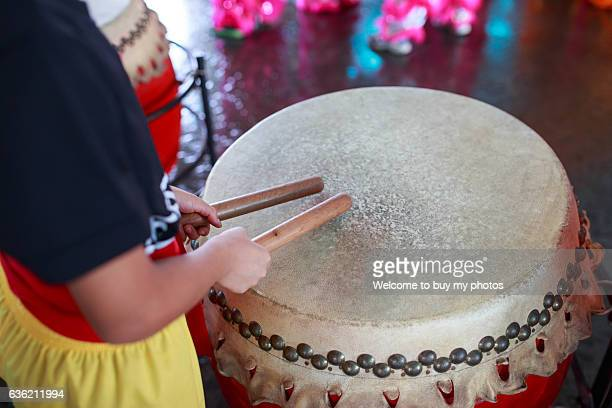 drumming - dragon boat festival stock pictures, royalty-free photos & images