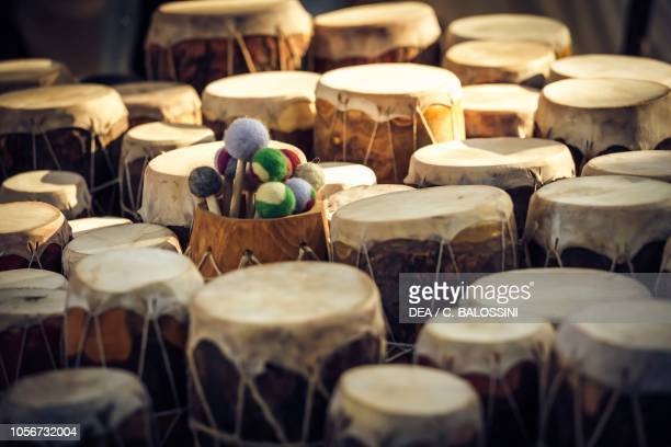 Drums Festival of Slavs and Vikings Centre of Slavs and Vikings JomsborgVineta Wolin island Poland Slavic and Viking civilisation 9th11th century...
