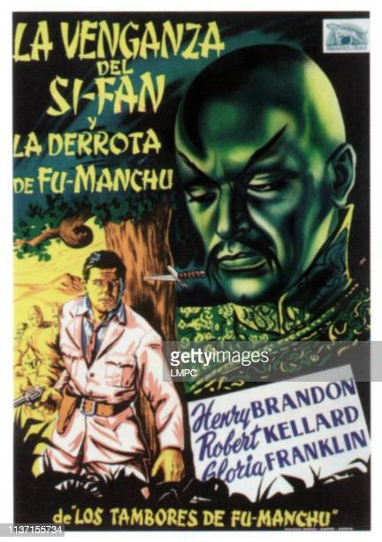 Drums Of Fumanchu poster on Spanish poster art 1940