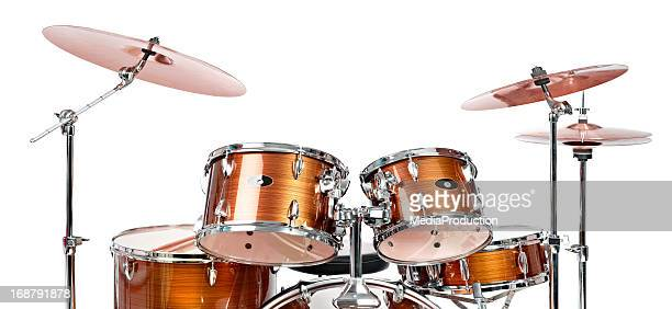 drums - drum kit stock photos and pictures