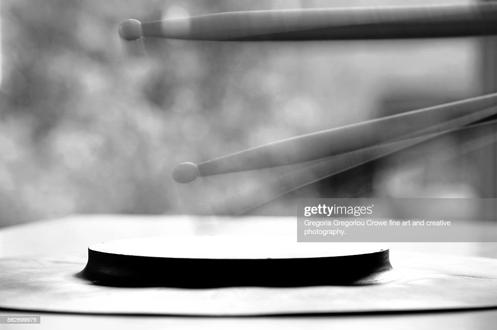 Drumsticks And Practice Pad : Stock Photo