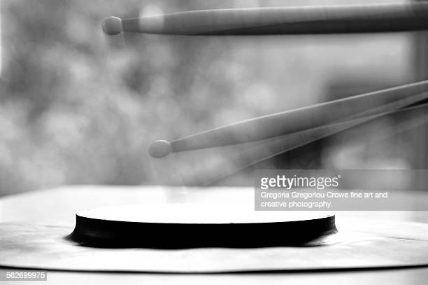 drumsticks and practice pad - gregoria gregoriou crowe fine art and creative photography. stock pictures, royalty-free photos & images