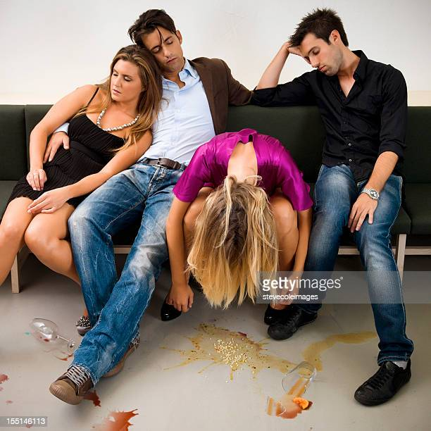 drunk couples - vomiting stock photos and pictures