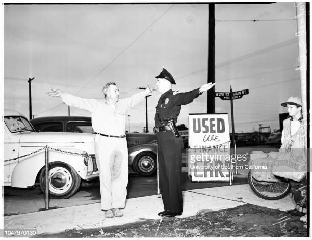 Drunk driving , April 26, 1951. Rafael C Chanez -- 51 years;Officer G.R York..