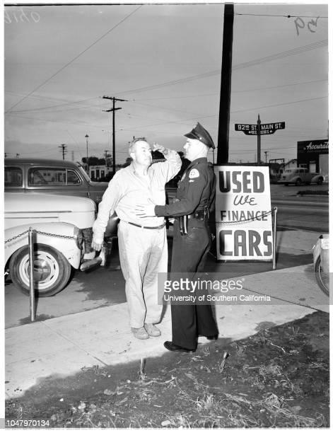 Drunk driving April 26 1951 Rafael C Chanez 51 yearsOfficer GR York