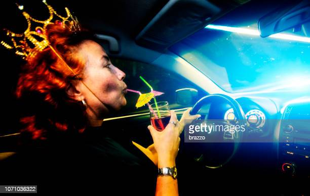 drunk driving - drunk woman stock pictures, royalty-free photos & images