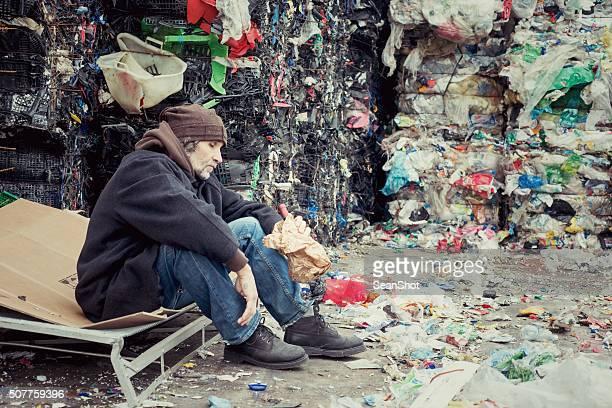 Drunk Homeless in Landfill