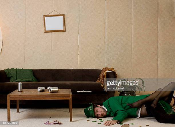 drunk leprechaun - leprechaun stock pictures, royalty-free photos & images